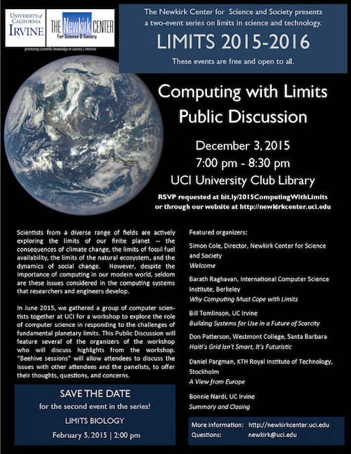 LIMITS 2015 Public Discussion